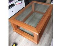 Large solid wood coffee table from Habitat