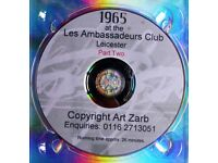 1965 CELEBRITY & SPECIALITY NIGHTS at the Les Ambassadeurs Club Leicester DVD. Part Two.