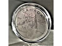 2014 - 999.9 Fine Silver Canada Bobcat $20 Dollars Commemorative Coin COA