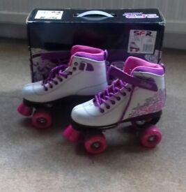 Girls SFR Vision Retro quad roller skates size 3