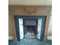 STOVAX VICTORIAN STYLE FIREPLACE & SURROUND
