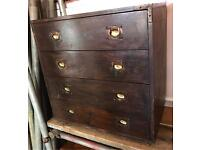 Antique/ Military Style Chest Of Drawers