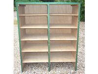 Storage shelves useful for storing items in shed, garage or office