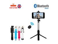 Mobile Phone Tripod + Bluetooth Remote Shutter + Extendable Selfie Stick