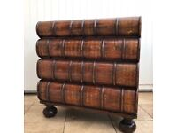 Antiqued Stacked Classic Book Cabinet Chest of Drawers Hand Carved Solid Hardwood