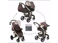 Hauck malibu xl all in one travel system - dots