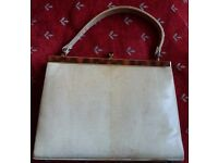 Ladies vintage Genuine Lizard 1950's handbag.