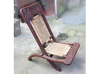 Antique fold up wooden chair 1920/30s