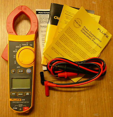 New Fluke F319 Digital Clamp Meter True-rms 37mm Frequency 6000 Count Wcase