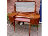 Stunning Walnut Art Deco Dressing Table - WE CAN DELIVER