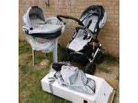 Uppababy Vista pram and pushchair with accessories