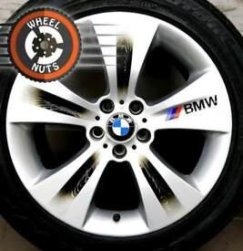 "19"" Genuine BMW X5 X6 staggered alloys silver/black excel cond."