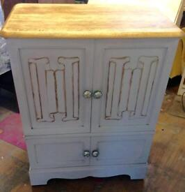 Solid wooden cabinet/child's wardrobe/tv stand, Upcycled