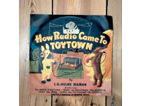 "Rare 3 x 78 rpm Record Set ""How Radio Came To Toytown"" Decca c 1947 Excellent Condition"