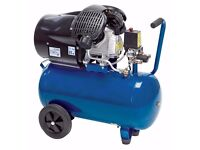Workzone 50L 3hp Twin-Cylinder Air Compressor (Made by Einhell) w/ Cast Iron Pump. NEW + WARRANTY