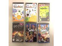 Job lot Sony PSP games Loco Roco Sims Harry Potter
