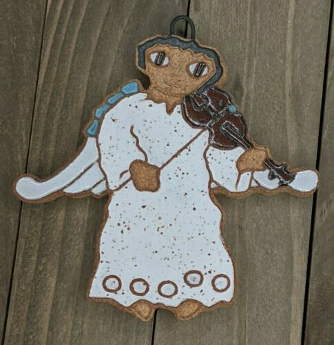 St Andrews Abbey Handmade Christmas Angel Ornament : Music Violin