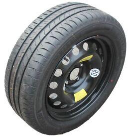 Unused Michelin X 205/55/R16 - 91V tyre on Citroen C4 Spare wheel
