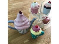 Cupcakes collection cupcakes stand teapot mug