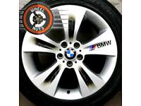"19"" Genuine BMW X5 X6 staggered alloys silver/black excel cond."