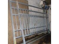 Heavy steel railings. 3 sections, each 2m long