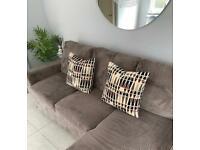 Modern Cushions Grey Black Brown