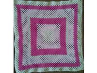 Beautiful Pram blankets. Hand crocheted.