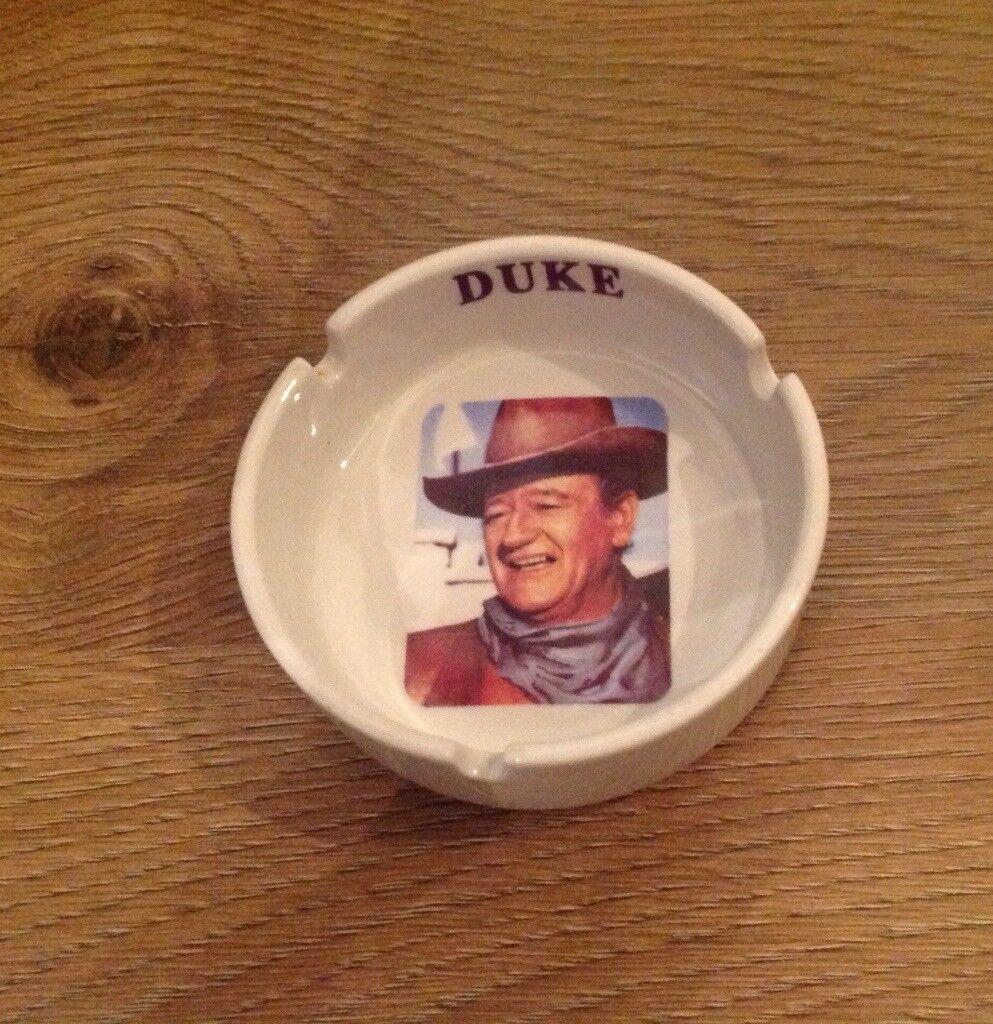 John Wayne ceramic ashtray