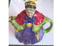 Vintage LITTLE OLD LADY Teapot - Made in England, Staffordshire