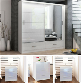 NEW MARSYLIA WARDROBE IN BLACK WHITE AND GREY COLOR OPTIONS WITH LOT OF HANGING SPACE