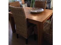 4 Wicker chairs good condition