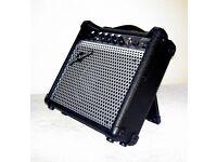 ELECTRIC GUITAR GEAR4MUSIC MODEL Z15G 15 WATT SLIMLINE TILTING PRACTICE AMPLIFIER IN EXCELLENT COND