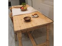 Large 8 seater pine refectory table farmhouse solid pine kitchen/dining table