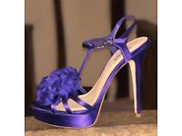 Purple heeled sandals by Dune, UK7/EU40