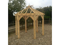 Gazebo Hexagonal ENGLISH OAK Framed 3.0m x 3.0m