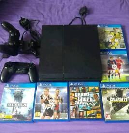 PS4 console plus games
