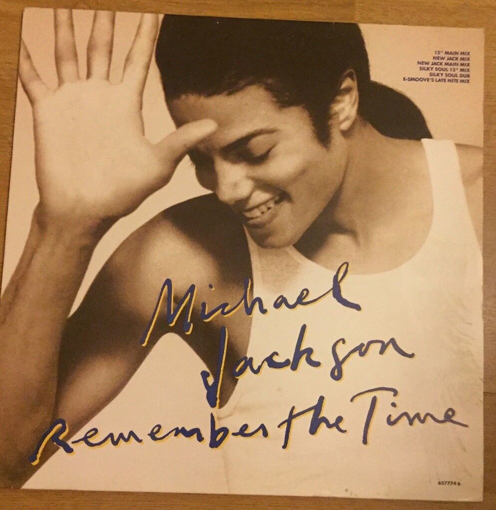 """Michael Jackson 'Remember The Time' 12"""" record in very good condition"""