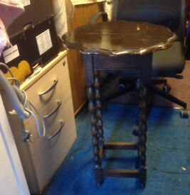high side table vintage retro real wood