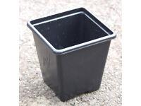 NEW 7cm Square Plant Pots - HIGH QUALITY PLASTIC PLANT POTS - £1.00 for 12