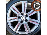 "17"" Genuine SE alloys VW Golf Caddy Seat Leon excel cond excel tyres."