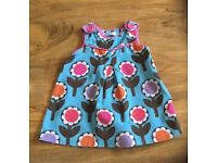 Baby Boden girls needlecord floral pinafore dress 6-12 months retro
