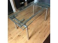 Glass dining table. Collection only.