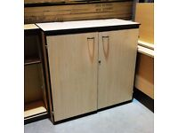 Office Locking Storage Cupboard with Shelves