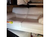 2 seater white leather sofa from sofolgy still in store RRP 1200 great condition pick up Batley