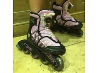 K2 Charm X Boa kids in-line skates with matching pads