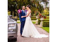 STUNNING AMANDA WYATT WEDDING DRESS size12