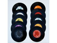 """Vinyl records (80 vinyls 12"""" & 28 vinyls 7"""") for retro, vintage craft upcycle projects"""