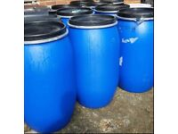 PLASTIC BLUE BARRELS/ DRUMS FOR SALE 220LITRES