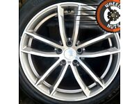 """18"""" Genuine alloys Audi A4 A6 staggered, perf cond, premium tyres."""
