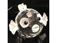 Genuine Swarovski crystal puffer fish figurine